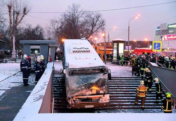 Un autobús mata a cuatro personas en estación rusa