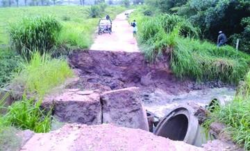 San Javier en problemas por lluvias intensas