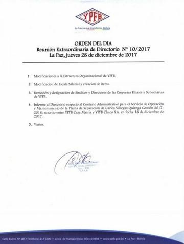 YPFB debate desmembramiento de Gerencia de Redes, en detrimento de Chuquisaca