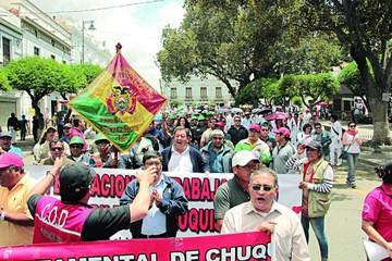 Evo ignora las protestas contra el nuevo Código Penal en Sucre