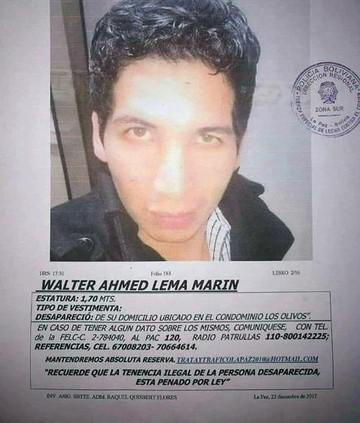 La Paz: Encuentran sin vida cuerpo de joven desaparecido