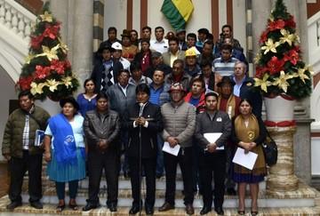 Evo Morales pide derogar artículos 205 y 137 y revisar el 293 y 294 del Código Penal