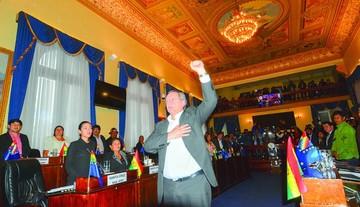 Gonzales preside por cuarta vez el Senado