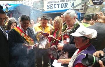 Autoridades inauguran la Feria de la Alasita 2018 en La Paz