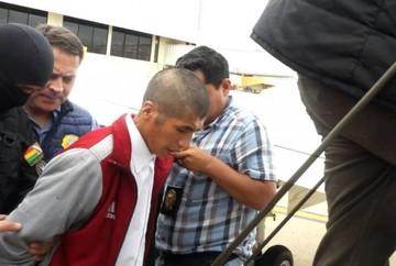 Eliot, el principal acusado por la muerte de Jesús y Carla, ya está en Bolivia