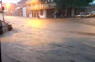 En Yacuiba hay inundaciones y derrumbes debido a las fuertes lluvias