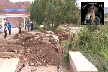 Un joven muere electrocutado en Tupiza y el río afecta una vía de capa asfáltica