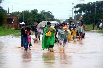 Lluvias provocan inundación en dos ciudades del Beni
