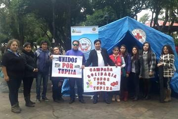 Sucre se solidariza con Tupiza y campaña continúa este fin de semana
