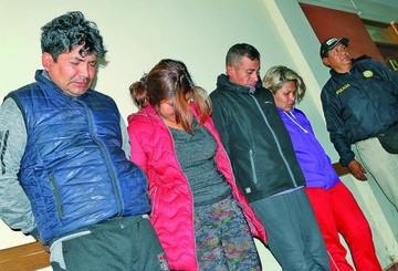 Cochabamba: Caen cuatro sospechosos de robar casas