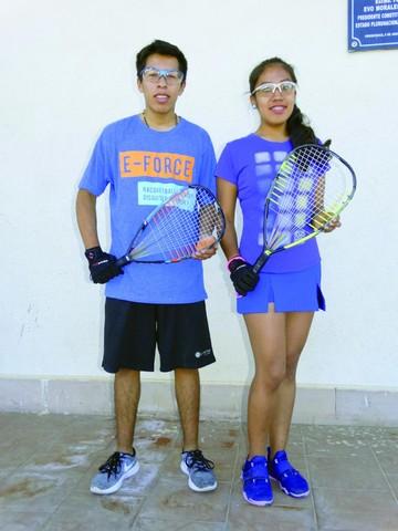 Carla y Carlos los mellizos que quieren brillar en el raquetbol boliviano