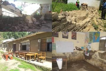 Aulas de la Unidad Educativa de Cucurí se derrumban por la humedad