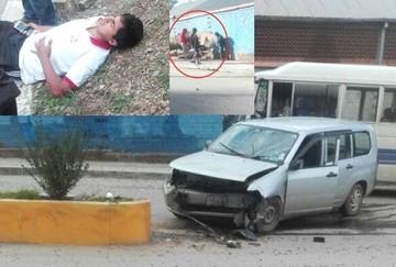 Volquetero deja grava en carretera y provoca accidentes cerca de La Calancha