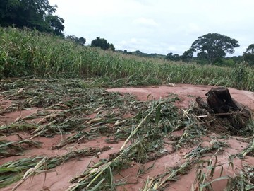 Monteagudo sigue sin agua y las rutas están cortadas