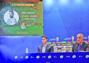 Willian José, citado para reemplazar  a Neymar en Brasil