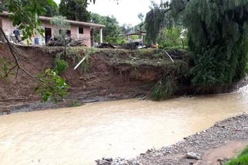 Sucre: Tres casas corren el riesgo de desplomarse en La Glorieta