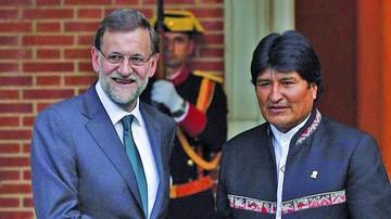 Morales agradece a Rajoy  opinión sobre bolivianos