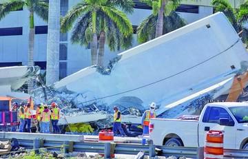 Miami: Continúa búsqueda de cuerpos en puente colapsado