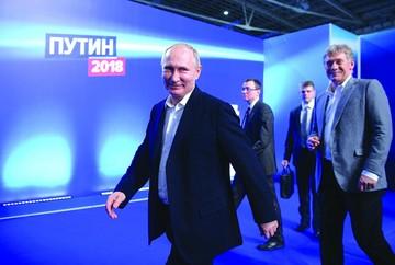 Putin gana presidencia rusa con rotundo apoyo