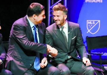 "Beckham y Claure buscan formar un ""dream team"""