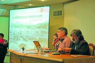 Presentan libro sobre el sismo de 1948 en Sucre