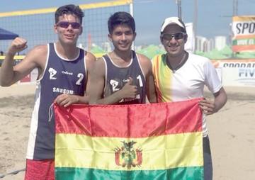 Chuquisaqueño Calvo destaca en Beach Vóley