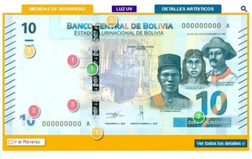 Conozca las medidas de seguridad del nuevo billete de Bs 10