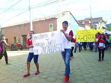 Chuquisaca se moviliza en defensa de Incahuasi