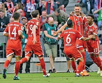 Bayern no baja el ritmo pese a tener el título en manos