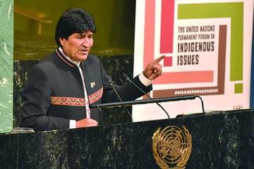 Evo alienta a indígenas en la ONU y lo denuncian por vulneraciones