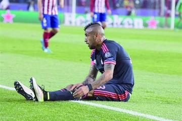 Arturo Vidal se someterá a una cirugía en la rodilla
