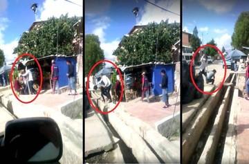Un video muestra la agresión de Mauricio Soria a una persona en plena vía pública