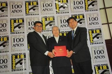 Santa Eufrasia recibe una distinción en sus 100 años