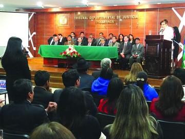 Comprometen cinco juzgados para el Distrito Chuquisaca