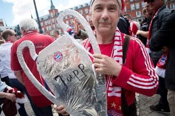 Hinchas del Real Madrid y Bayern Múnich, listos para partido de infarto