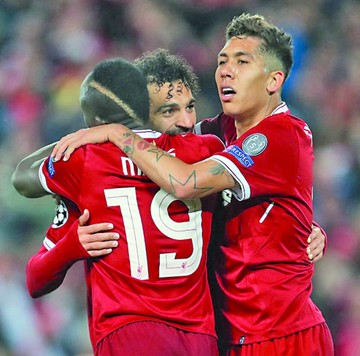 "Tridente del Liverpool bate récord de la ""BBC"""