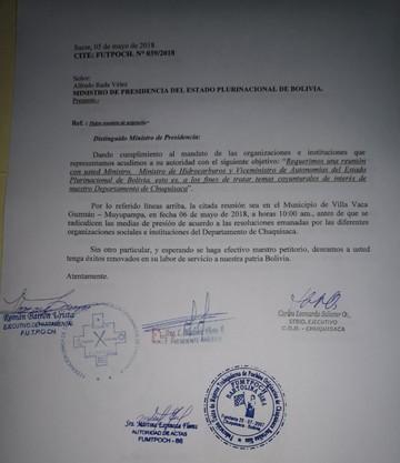 Dirigentes de cuatro organizaciones envían carta al Gobierno para un diálogo