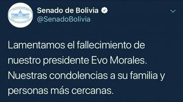 """Hackeo"" en Twitter da por muerto a Evo"