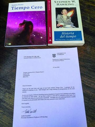 Recibió una carta de agradecimiento de Hawking