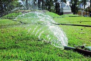 La mitad de las áreas verdes ahora se riega con agua de pozo