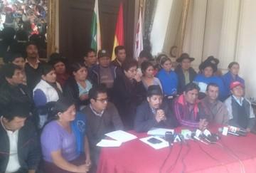 Chuquisaca: Oficialismo rechaza cabildo y advierte con movilización
