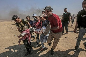 Cifra de palestinos muertos en Gaza asciende a 58 por traslado de Embajada de EEUU