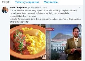 Diputado Callejas reta a periodista por dos platos de mondongo