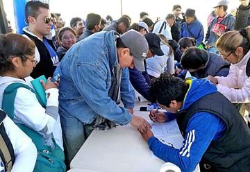 MAS inscribe militantes y rechaza obligatoriedad