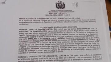 Ministerio de Comunicación compra televisores por $2,5 millones en Chile