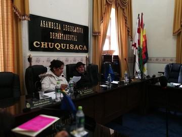 Asamblea Legislativa de Chuquisaca no tendrá sesión de homenaje al 25 de Mayo