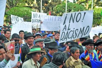 El MAS impulsa en Sucre marcha contra el racismo