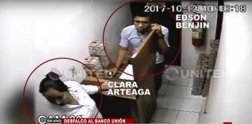 Revelan videos del desfalco en el Banco Unión de Santa Cruz