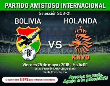 Bolivia enfrenta a Holanda