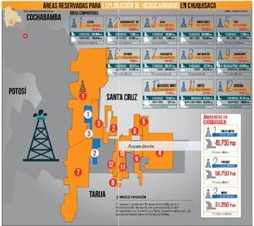 Chuquisaca tiene 12 áreas de exploración en límites interdepartamentales